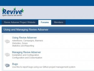 Revive Adserver Community Forums