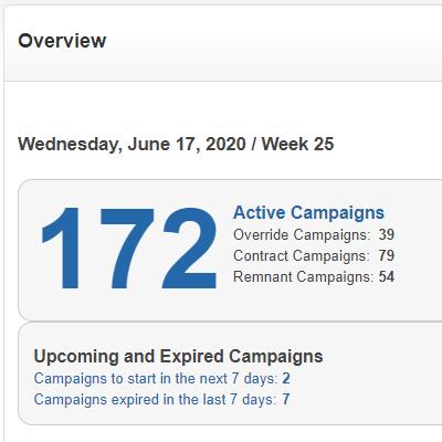 DashiX Campaign Overview Screen