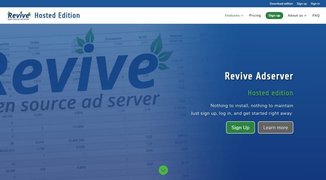 Revive Adserver Hosted edition Launched!