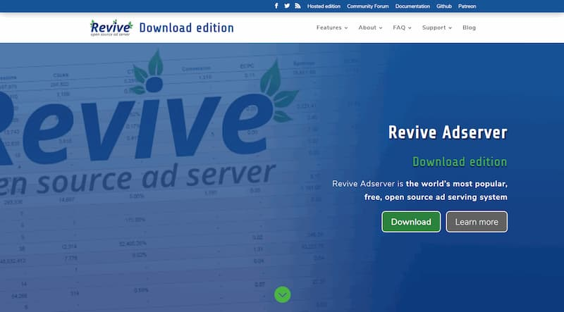 Revive Adserver is on Patreon